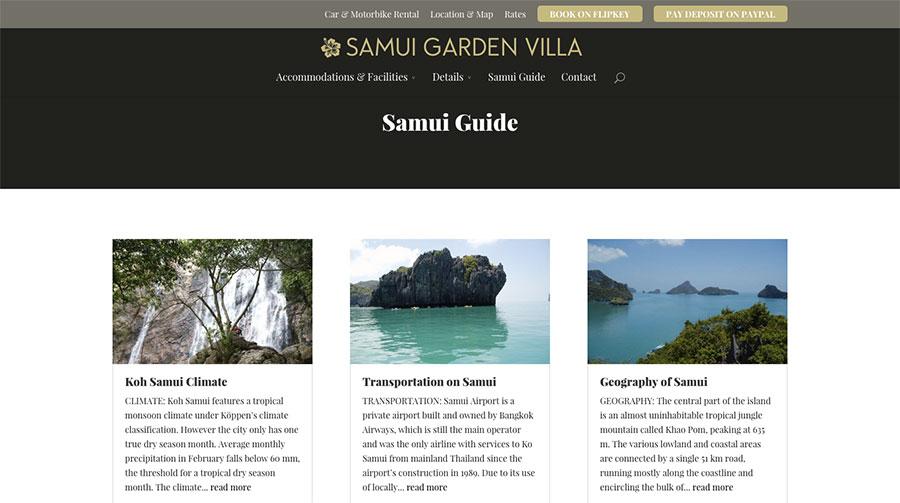 Samui Garden Villa - Blog Page